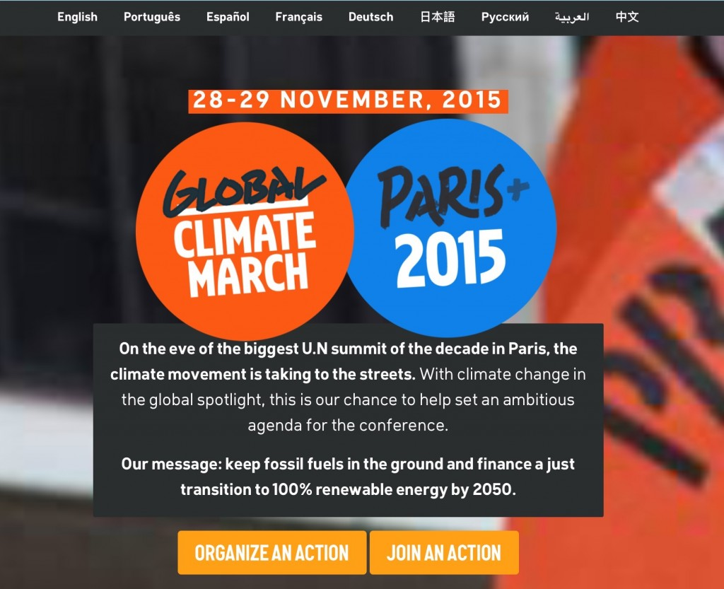 Find out about over 2,000 events worldwide at http://350.org/global-climate-march/