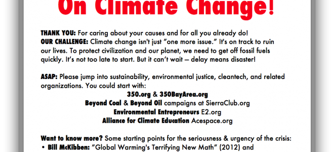 """We Invite You to GET MORE ACTIVE ASAP on Climate Change"""